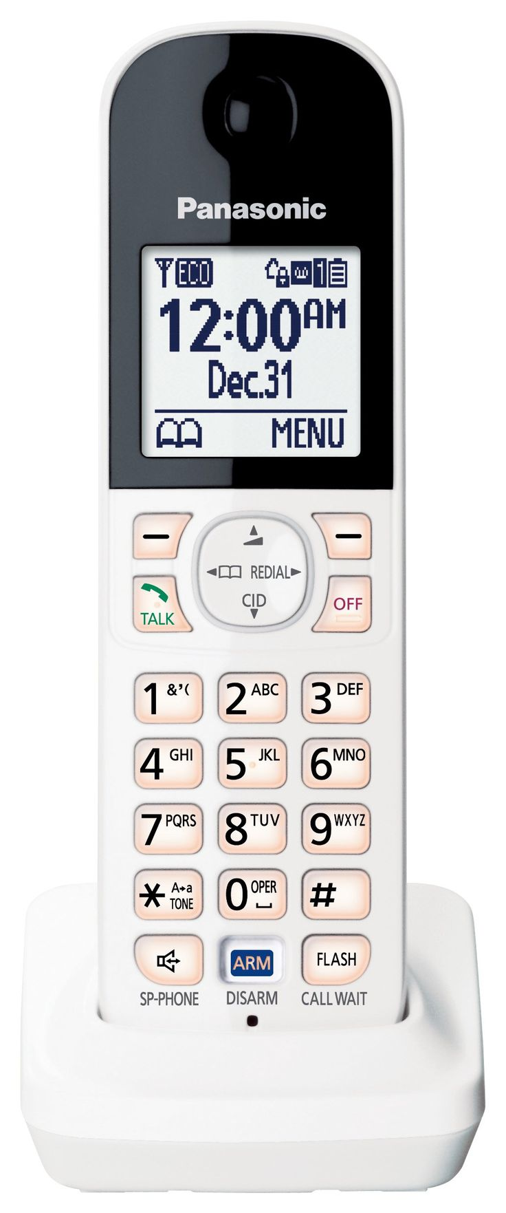 Panasonic KX-HNH100W Digital Cordless Handset for Smart Home Monitoring System (White)
