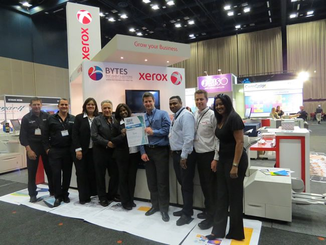 Bytes Document Solutions scooped the Best Large Stand award at Africa Print Durban.