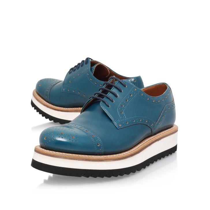 Lucy Blue Flatform Shoes By Grenson | Kurt Geiger
