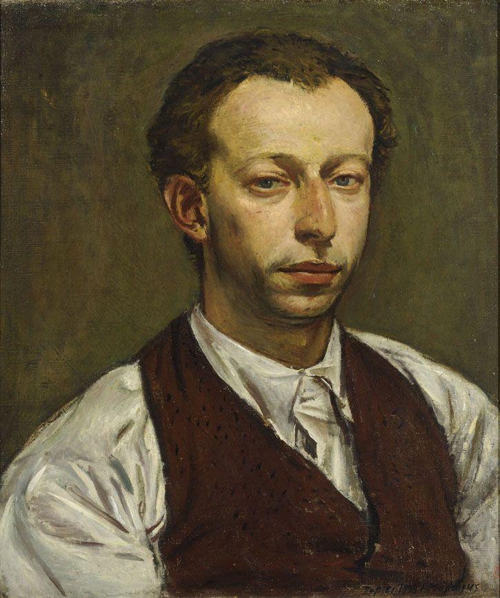 Portrait of sculptor John Pappas, 1938  Yiannis Moralis