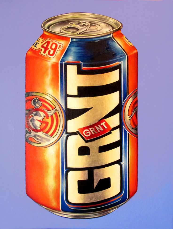 """GRNT"" (2015) oil on canvas (27x35cm) by Tiina Lilja   - My version of IRN BRU!"