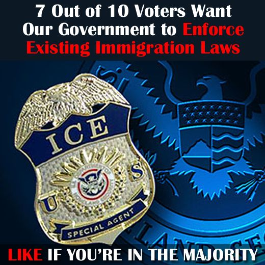 A recent poll found 70% of voters (of every walk of life) support increasing enforcement of immigration laws already on the books. How about you?