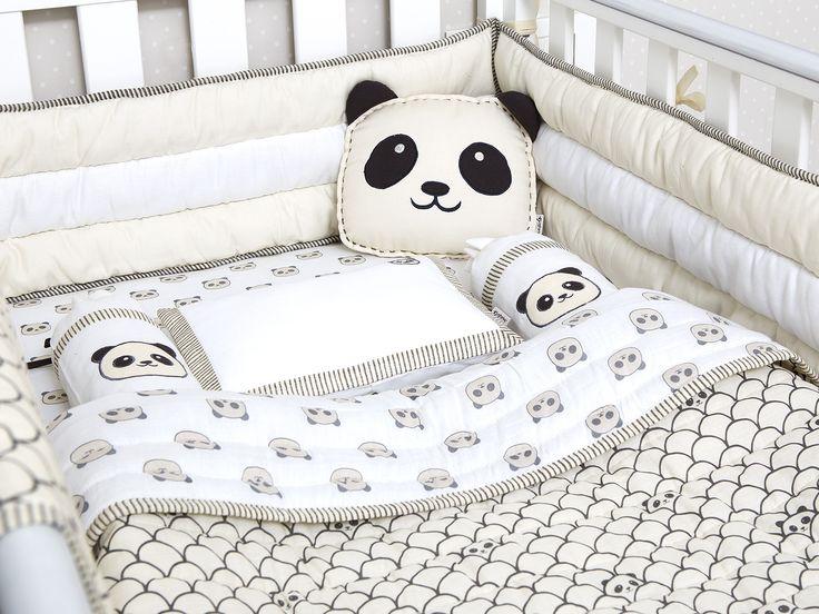 Peekaboo Panda-Organic Crib Bedding Set, Baby Bedding Set, Baby Blanket, Baby Bedding, Baby Crib, Panda Crib Set, Gender Neutral Bedding Set