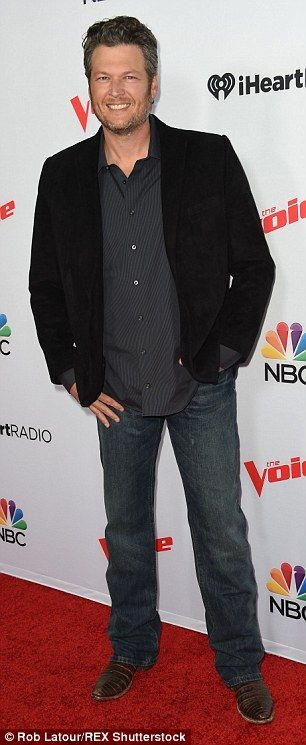 'Hot romance': Blake Shelton (pictured April 23) and Gwen Stefani (at a July press junket) have people on the set of The Voice buzzing about their rumoured new romance, Life & Style is reporting