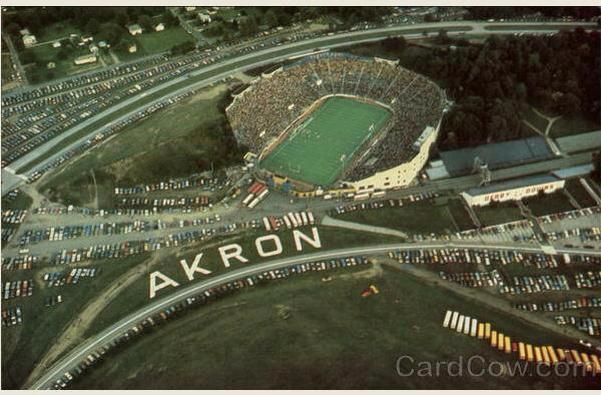 Rubber Bowl and Derby Downs ... Akron, Ohio.  We used to go see the Akron Zips play every year.