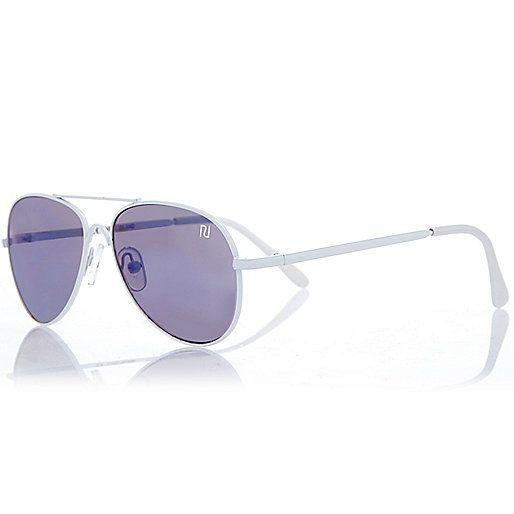 Boys white mirror lens aviator sunglasses - sunglasses - accessories - boys
