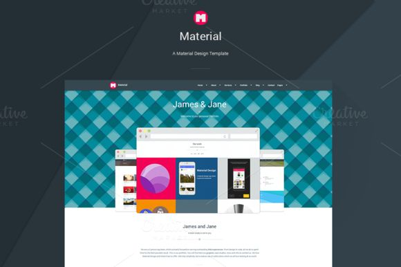 Material - Material Design Template by Andrewch on Creative Market