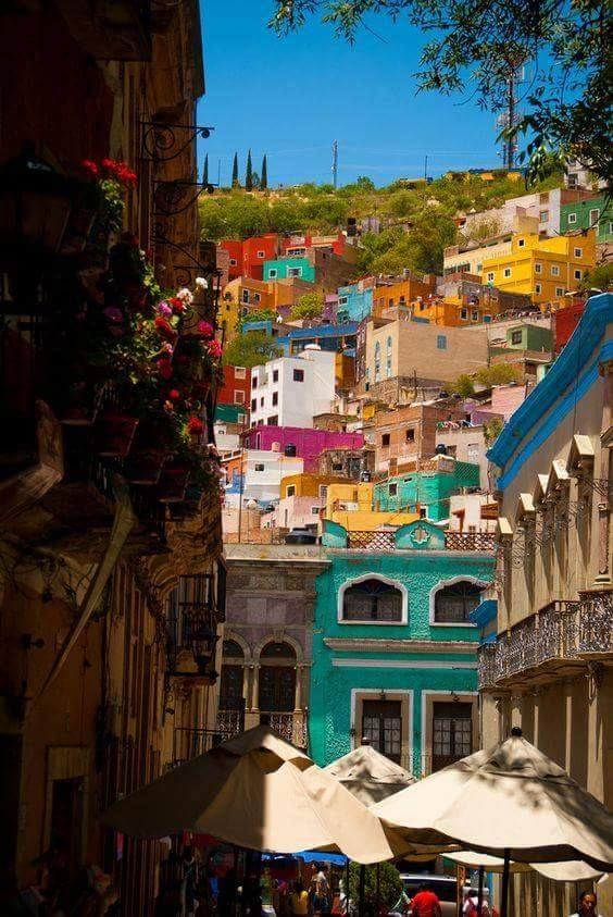 Obojeni grad Guanahuato u Meksiku.