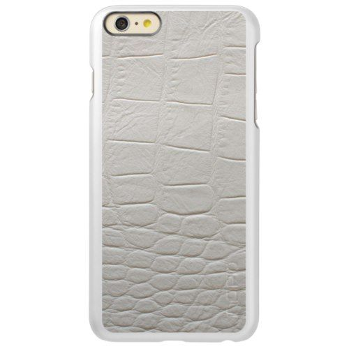 Trendy unique white alligator leather faux stylish incipio feather shine iPhone 6 plus case Apple iPhone 7, Apple iPhone 7 Plus, iPhone 6/6s, iPhone 6/6s Plus, iPhone SE   iPhone 5/5S, iPhone 5C, iPhone 4, Samsung Galaxy S8, Samsung Galaxy S7, Samsung Galaxy S6, Samsung Galaxy S5, Samsung Galaxy S4, iPod Touch 5g, iPod Touch..... Custom your own women, mother, sister artwork, design, photo, illustration with Silver iPhone 6/ 6S Plus Cases Collection. Check out link now…