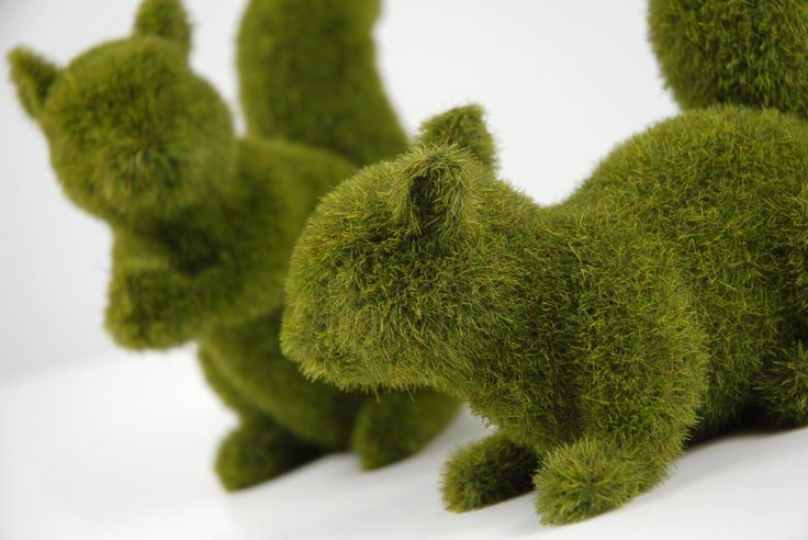 """6.25"""" Moss Covered Squirrels Artificial Topiary (2 squirrels) $10 set"""