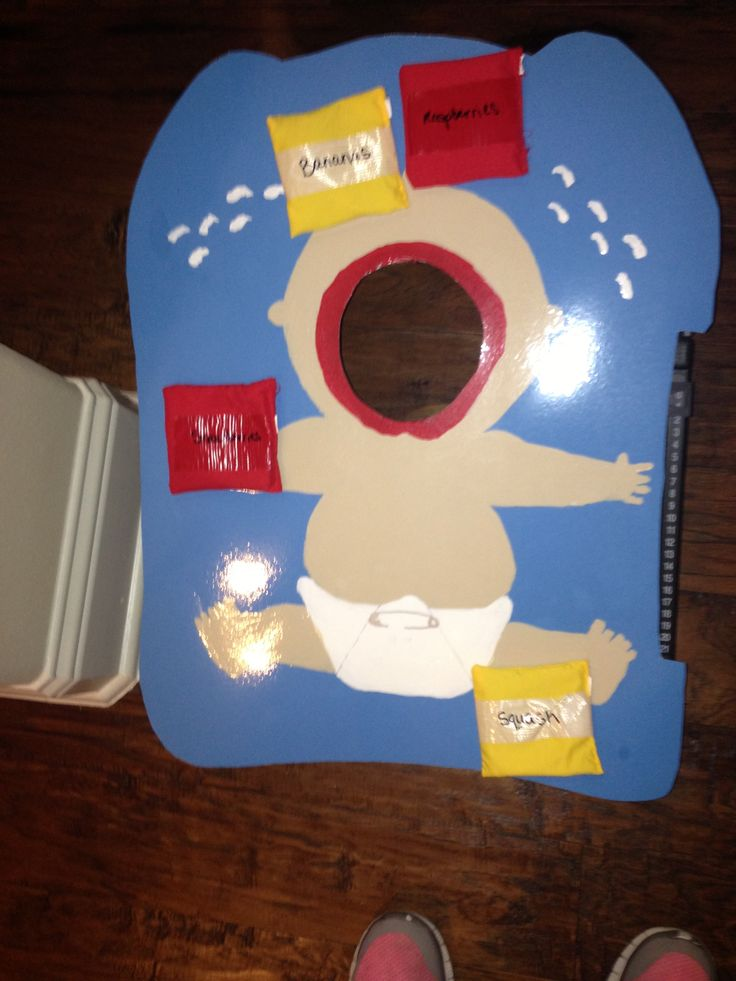 Poster to cover cornhole board | Baby Shower | Baby shower ...