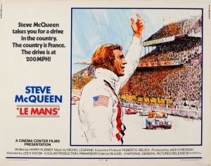 Le Mans Steve McQueen Half Sheet 1971 - original vintage poster by Tom Jung listed on AntikBar.co.uk