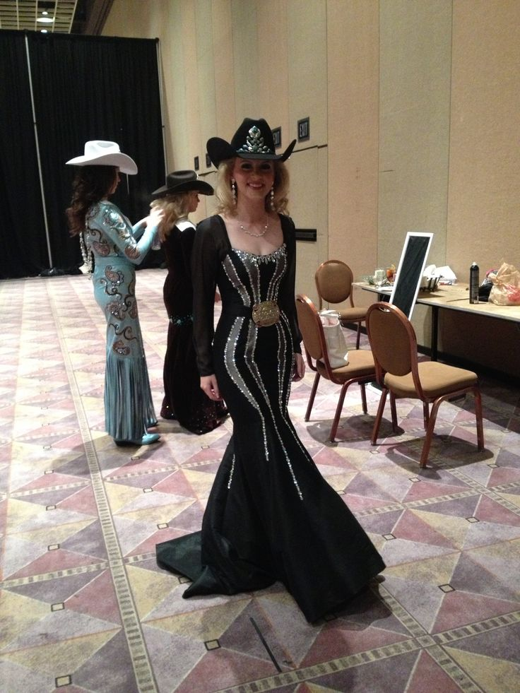 Miss Rodeo Colorado in her Miss Rodeo America Pageant Fashion Show dress. #WranglerNFR