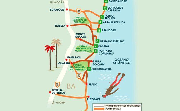Roteiro Rodoviário - Sul da Bahia