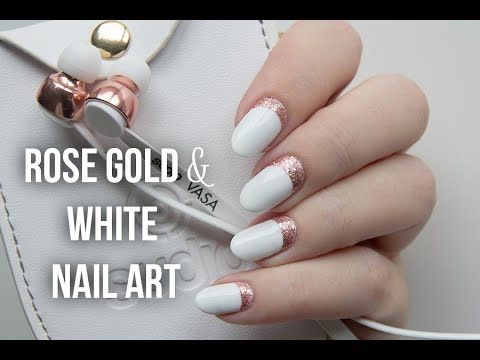 233 best gold nail art designs and tutorials images on pinterest rose gold white ruffian nail art http47beauty prinsesfo Images
