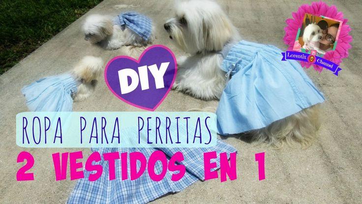 DIY 2-en-1 Vestido para Perritas, PRACTICO para sesion de fotos, Coton d...