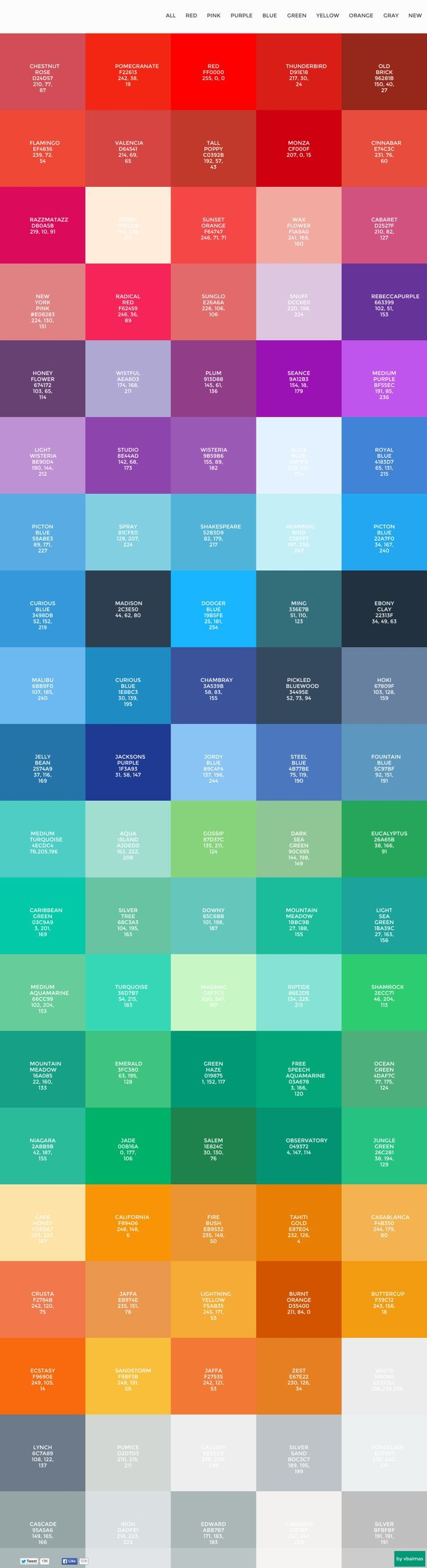Flat Design Colors