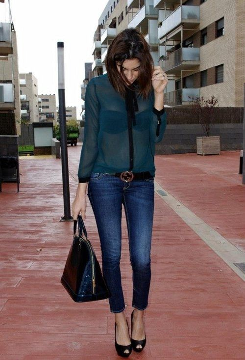 Verde jens , Zara in Shirt / Blouses, Guess in Jeans ...