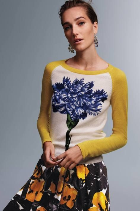 Colorblocked Wildflower Pullover by Peony by Samantha Sung | Pinned by topista.com