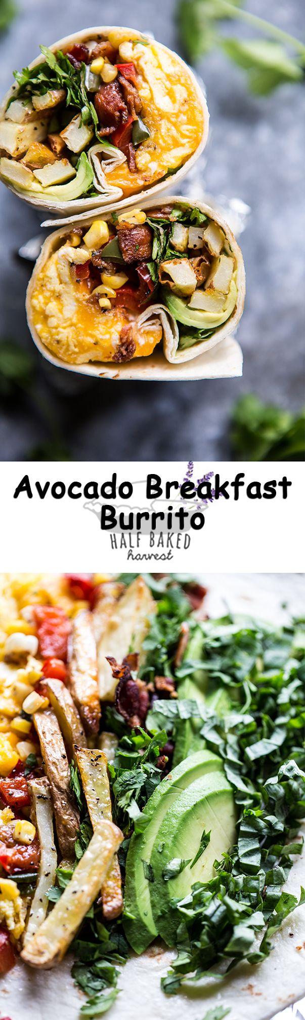 Avocado Breakfast Burrito   halfbakedharvest.com @hbharvest