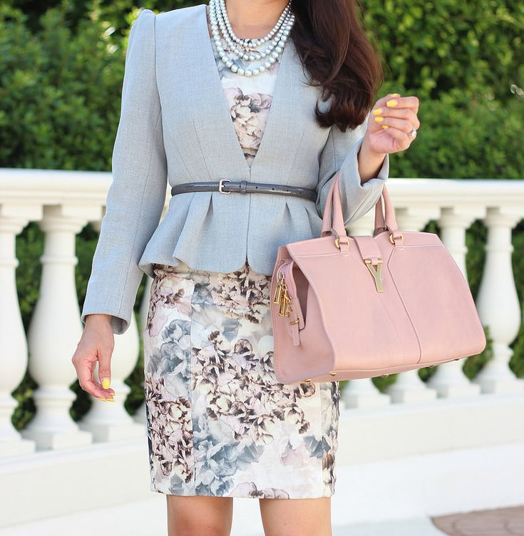 StylishPetite.com | Floral and Blush