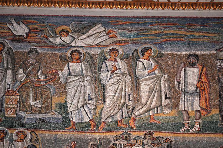 Santa Maria Maggiore, Roma, I mosaici , 432-440. Annunciazione (dettaglio). Foto di Pavel Otdelnov