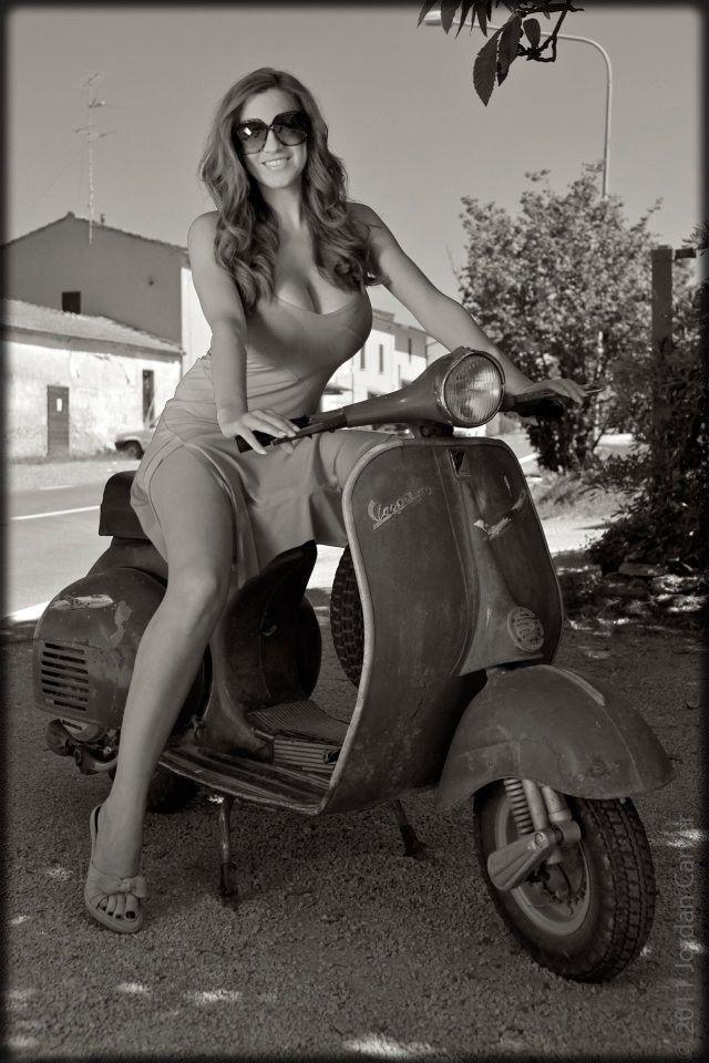 Vespa and nude girl