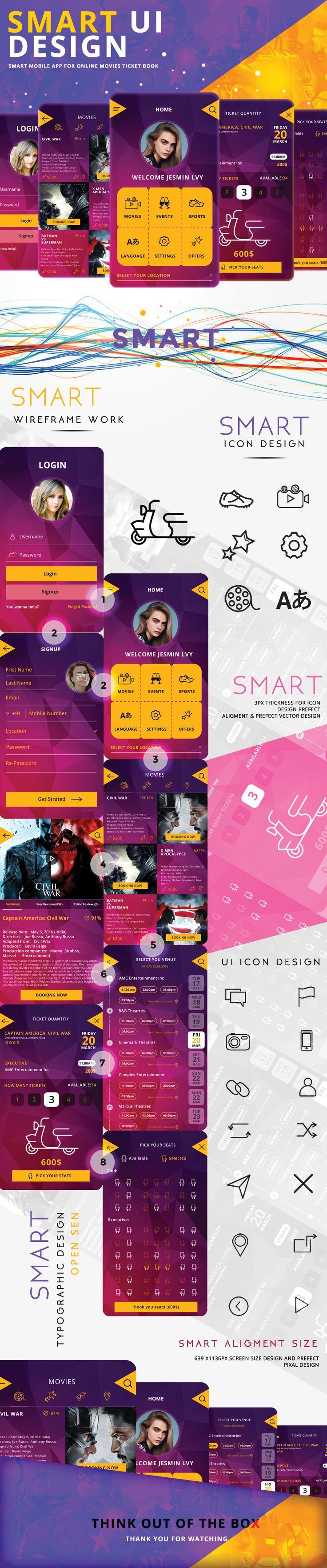 smart UI design on Behance