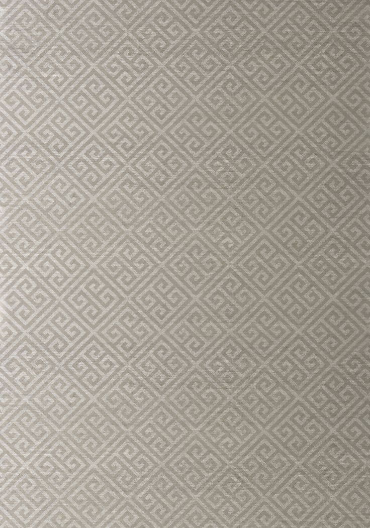 MAZE GRASSCLOTH, Metallic Grey on Silver, T41199, Collection Grasscloth Resource 3 from Thibaut