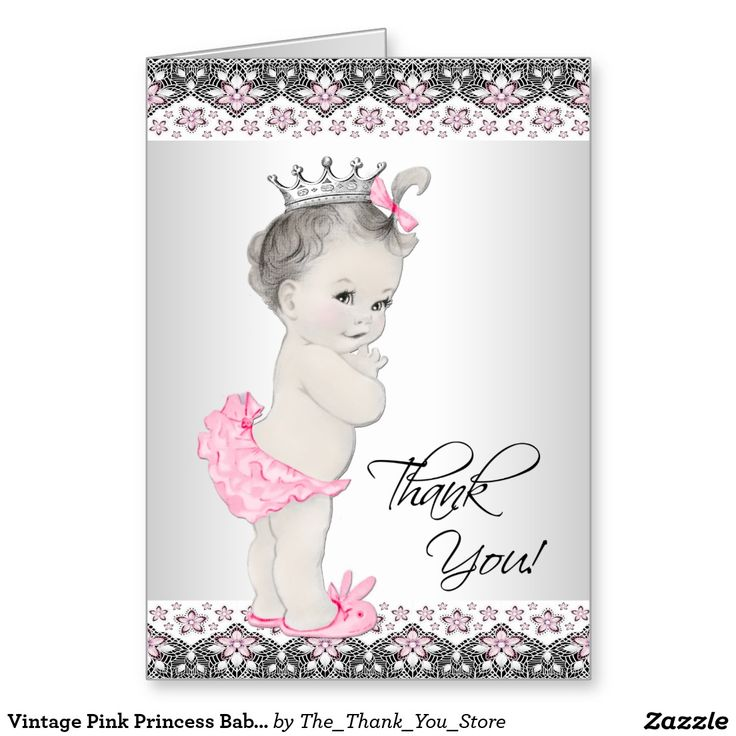 Vintage Baby Shower Thank You Cards: 40 Best Baby Girl Thank You Cards Images On Pinterest