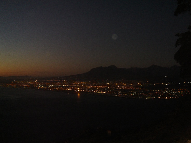 night fall in cape town