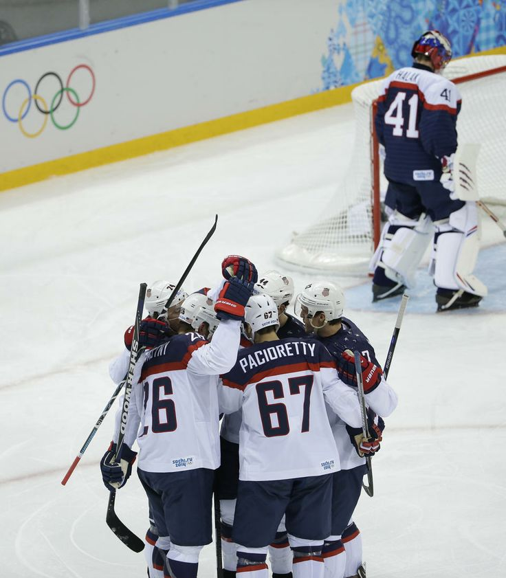 US crushes Slovakia 7-1 in men's Olympic hockey - Yahoo News