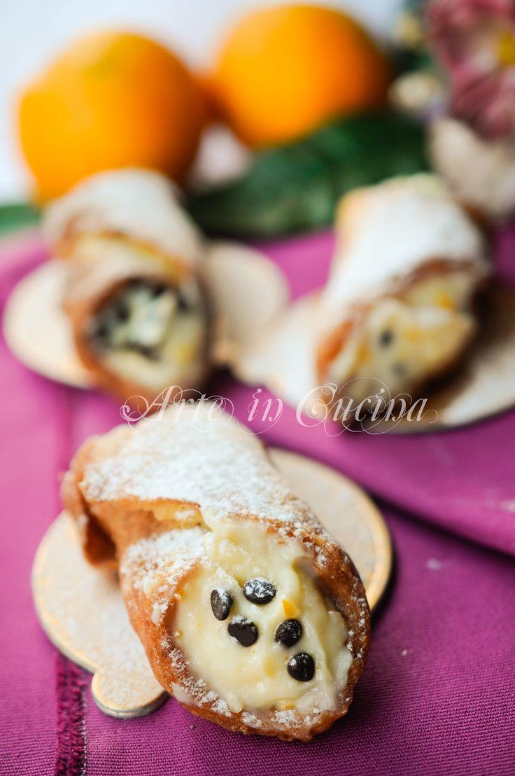 Cannoli alla crema di arancia e cioccolato con frolla vickyart arte in cucina