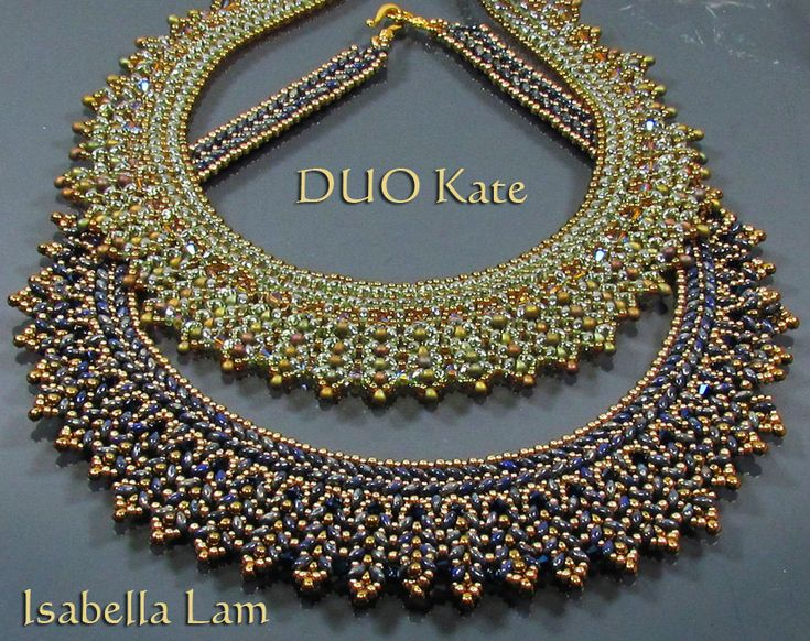 DUO KATE SuperDuo Beadwork Necklace Pdf tutorial instructions for personal use only. $19.00, via Etsy.