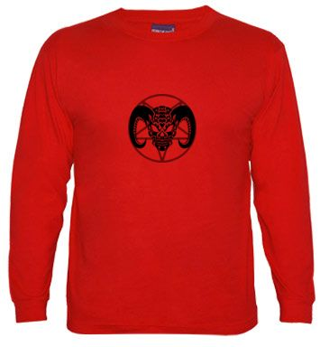 Demonio Tribal, camiseta manga larga hombre