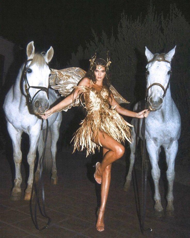 kendall jenner halloween costume hermes / pegasus in