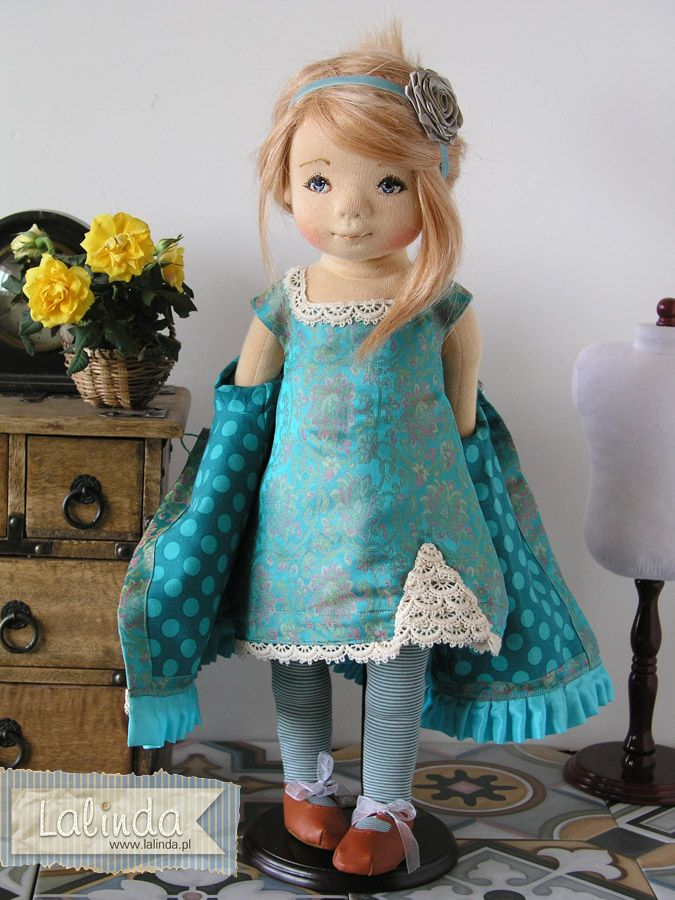 Maylyn - soft sculpted OOAK cloth doll by Lalinda.pl