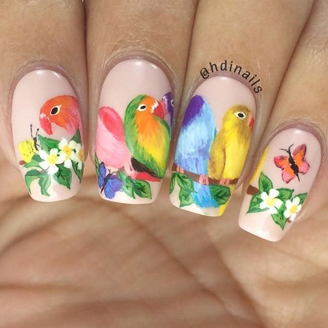 Love Birds Nail Art: 1000+ Ideas About Bird Nail Art On Pinterest