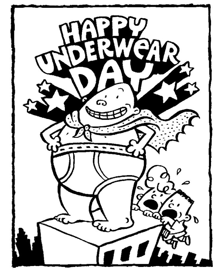Capt. Underpants coloring pages to print   Captain Underpants: Printable