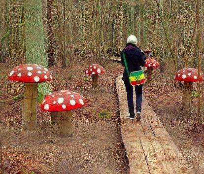 11 kreative Pilz-Projekte für Ihren Garten, Gartenarbeit, aus Baumstämmen  #ba…