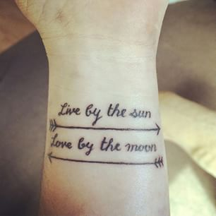 Words to live by. | Community Post: 32 Tattoos That Will Make