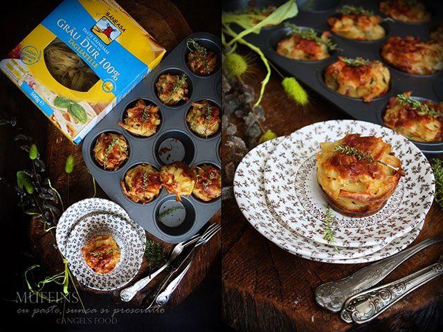 Angel's food: Muffins cu paste, sunca si prosciutto