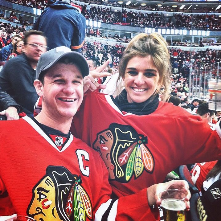 Blackhawks hockey game in Chicago, USA