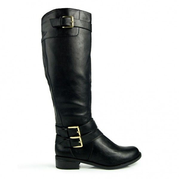 Knee Boots for Small Calves | Home > Shoes > Boots > Knee High > Soda Doric Equestrian Knee High ...