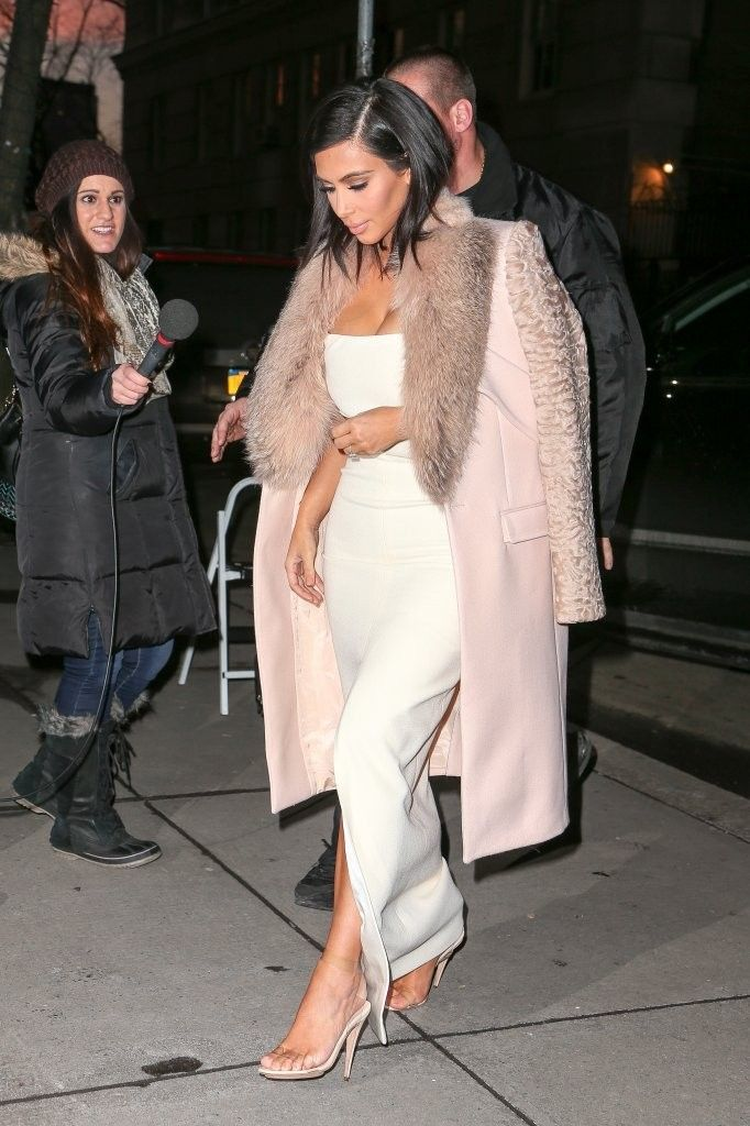"""Reality star Kim Kardashian is spotted all dressed up while out and about in New York City, New York on February 10, 2015. Kim recently revealed that she's sick of people crediting her sex tape with ex-boyfriend Ray J for making her famous saying, """"Maybe that's how some people heard about me but I didn't launch my career off of that. That was 12 years ago, no 13 years ago now, so I just try to move on and put it in the past because I think that everyone in life does things they're not proud…"""