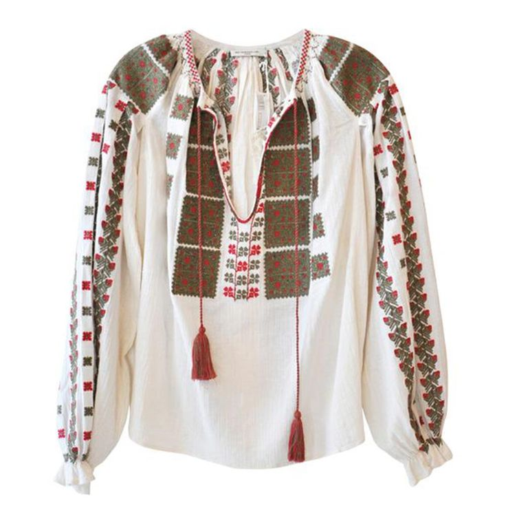 Mes Demoiselles #RomainianBlouse style Embroidered Top