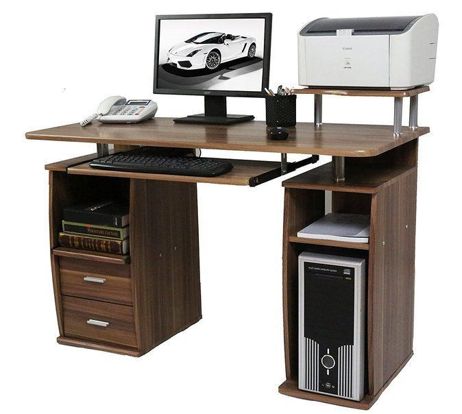 Office Desk Home Table Pc Workstation Computer Sliding Keyboard Shelves Drawer