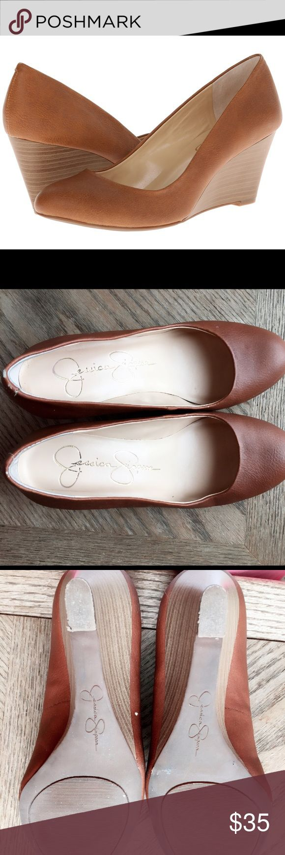 Jessica simpson wedge pump:) in great condition:) Very great condition...:) Jessica Simpson Shoes Wedges