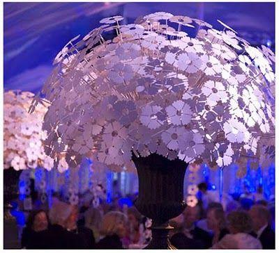 Centerpiece/bouquet...or upside down, a chandelier