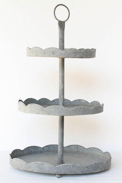 Galvanized Tin Cake Stand